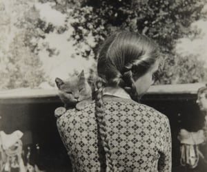cat and girl image