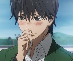 anime, blush, and orange image