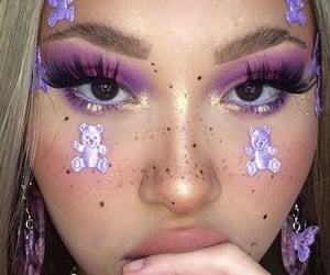 purple, makeup, and aesthetic image