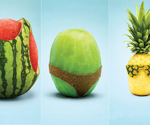 fruit, summer, and funny image