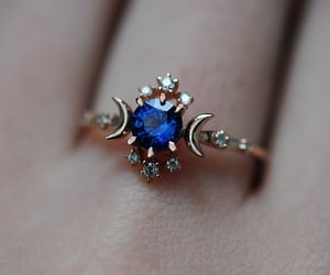 aesthetic, blue, and ring image
