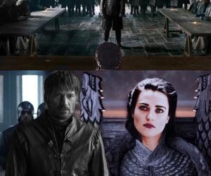 katie mcgrath, morgana pendragon, and jaime lannister image