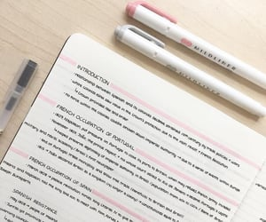 notes, pink, and study image