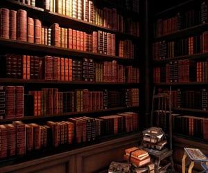 bookcases, books, and dark image