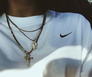 aesthetic, chain, and cross image
