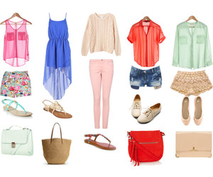 outfits, purses, and sandals image