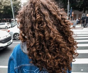 hair, curly hair, and beauty image