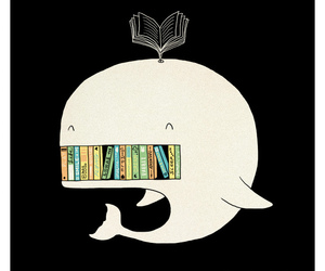 book, whale, and happy image