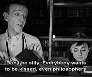 kiss, audrey hepburn, and quotes image