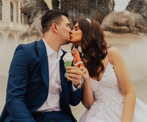 bride, marriage, and love image