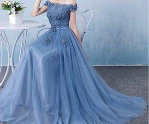 blue, colour, and dress image