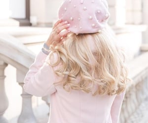 pink, blonde, and fashion image