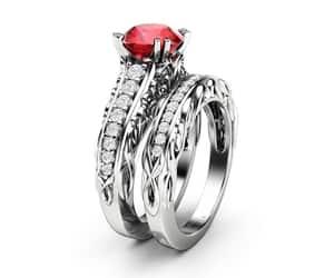 etsy, wedding ring, and gemstone rings image
