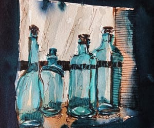 art, book, and bottle image