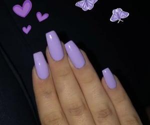 acrylics, lavender, and long nails image