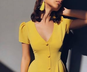 yellow and dress image