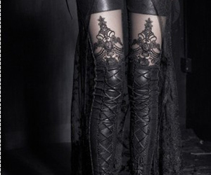 black, gothic, and goth image