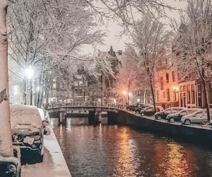 amsterdam, lights, and winter image