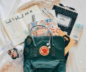 school, study, and backpack image