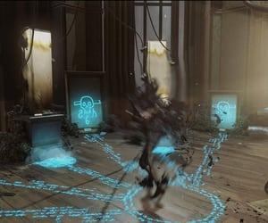 blue, distorted, and dark magic image