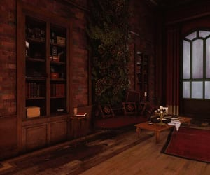 bookcase, brown, and dishonored image