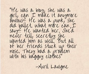 Avril Lavigne, quotes, and song image