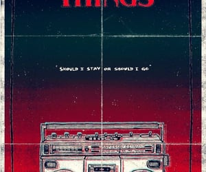 stranger things, music, and poster image