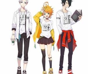 anime, norman, and anime girl image