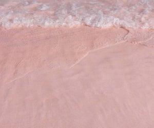 pink, aesthetic, and beach image