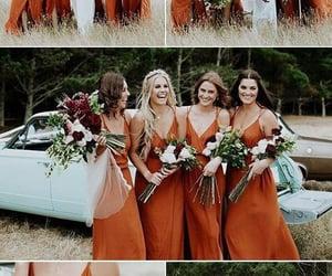 bride, bridesmaids, and clothes image