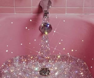 pink, glitter, and aesthetic image