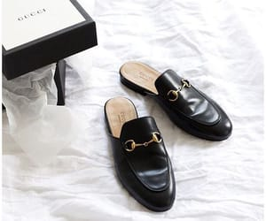 black, gucci, and shoes image