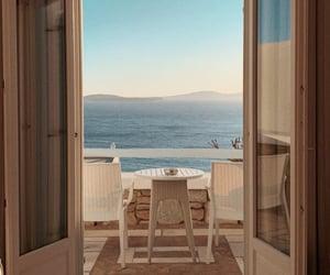 aesthetic, beach, and mykonos image