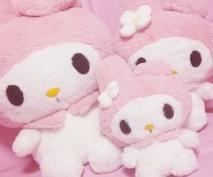my melody, pink, and theme image