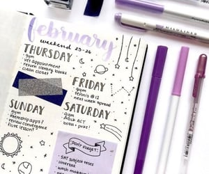 bullet journal, purple, and bujo image