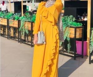 yellow hijab looks image