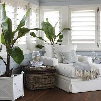 Sunroom With Plantation Shutters Cottage Living Room