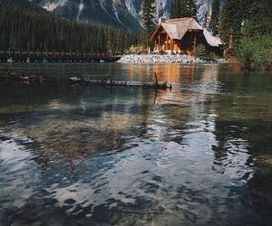 lake, nature, and house image