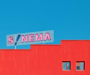 colors, red and blue, and signage image