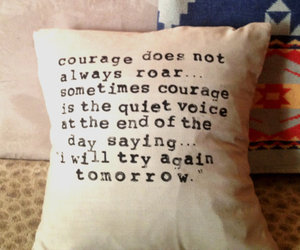courage and pillow image