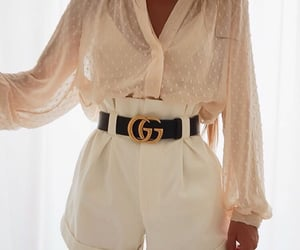 accesories, blouse, and gold image