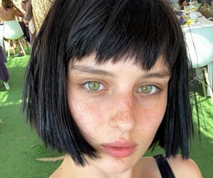 actress, baby, and bangs image