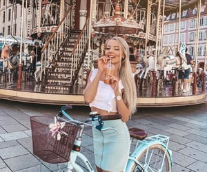 bike, feed, and blond image