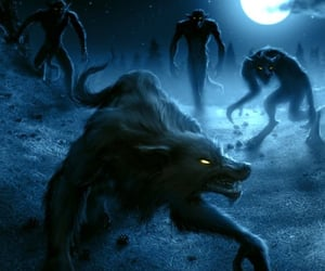 art, werewolves, and cool art image