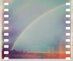 rainbow, photography, and vintage image
