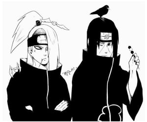anime, itachi, and ninja image