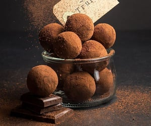 chocolate, food, and truffles image