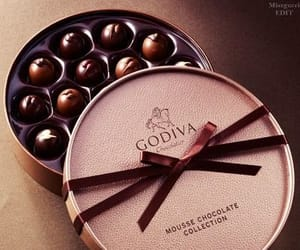 chocolates, dessert, and godiva chocolates image