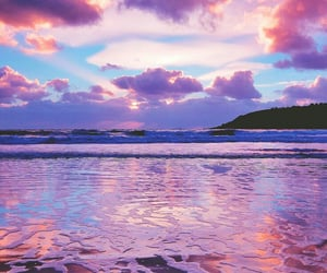 eau, paysage, and violet image