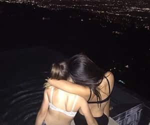 girl, night, and best friends image